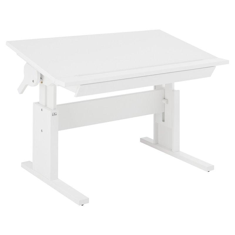 Lifetime schreibtisch h henverstellbar whitewash mit for Schreibtisch breite 120
