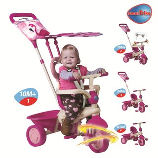 Smart Trike Safari mit Touch Steering pink/rosa